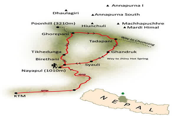 Annapurna Sunrise Trek Map